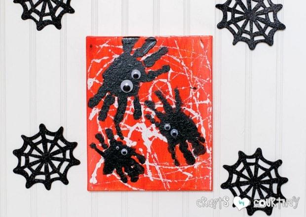 Halloween Craft: Spooky Spider Handprint Craft