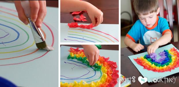 Tissue Paper Rainbow: Create Your Rainbow