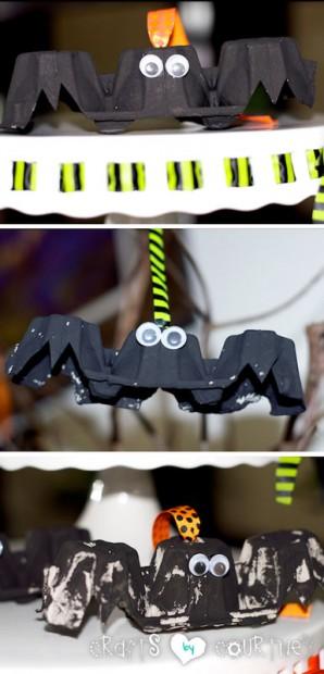 Spooky Egg Carton Bat: Finishing Touches