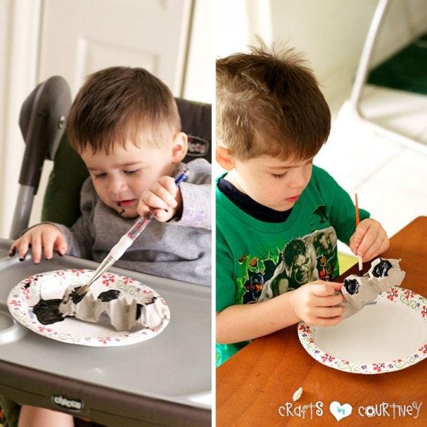 Spooky Egg Carton Bat: Paint Your Bats