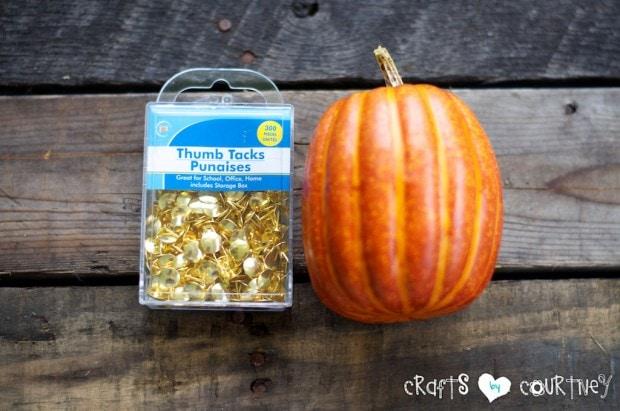 Fall Thumbtack Pumpkin: Getting Started