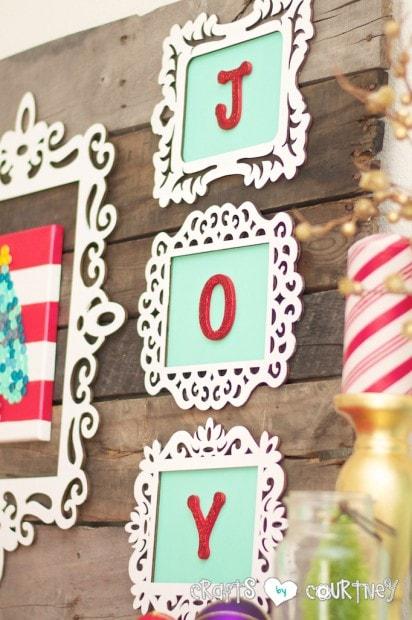 Christmas Craft: JOY Christmas Decor Letter Art