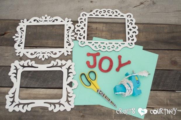 Framed JOY Christmas Decor Letter Art: Getting Started