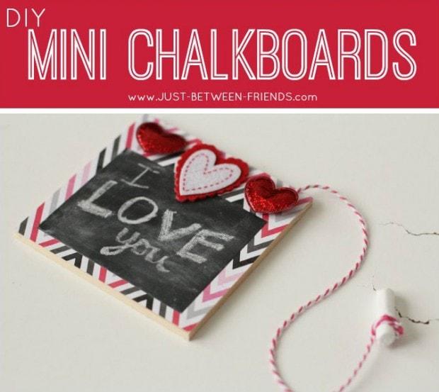 10+ Super Cute DIY Valentine Chalkboard Crafts: DIY mini chalkboards